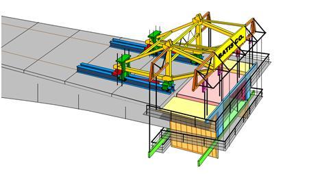 قالب فلزی بتن میلینیوم - سیستم قالب بندی شاریو (shario)دستگاه شاريو استاندارد به طور معمول براي قطعات به طول تا 5 متر و ظرفيت باربري ( وزن بتن و قالب ) متغير از 100 تا 600 تن طراحي مي شود .